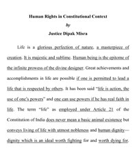 Human Rights in Constitutional