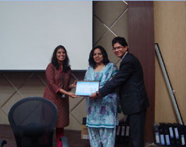 Certificate of appreciation by Infosys
